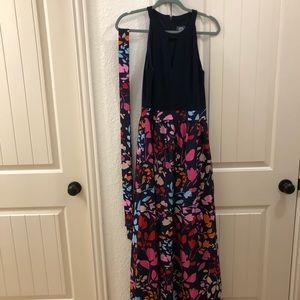 Vince camuto long belted dress